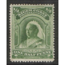 1894 NIGER COAST 1/2d yellow green NG.