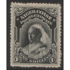 1894 NIGER COAST 1 Shilling black LMM.