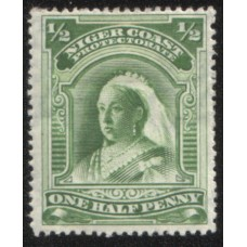1897 NIGER COAST 1/2d green Fine Mint.