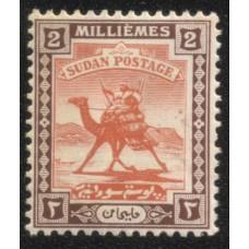 1921 SUDAN 2m Postman Fine Mint
