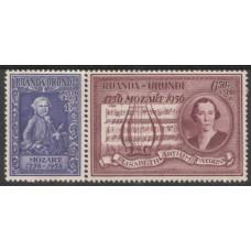 1956 RUANDA URUNDI Mozart set Mint