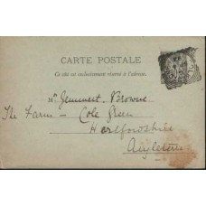 1893 FRANCE, Postcard Cancelled in ENGLAND