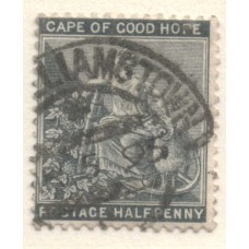 1884 Cape of GOOD HOPE 1/2d Hope inverted Wmk VFU