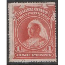1897 NIGER COAST 1d perf 15.5 x 16 MINT.