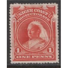 1897 NIGER COAST 1d perf 13.5 x 14 MINT.