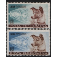 1957 ROUMANIA Dog Laika in Sputnik II MNH