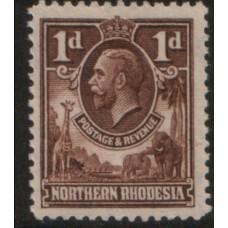 1925 NORTHERN RHODESIA KGV 1d LMM