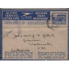 1942 SOUTH ADRICA  AERO 3d ASLC Grootte Schuur FU