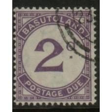 1933 BASUTOLAND Postage Due 2d violet SGD2 cv£25.00 VFU