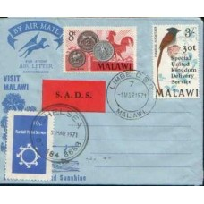 1971 MALAWI AEROGRAMME SPECIAL Delivery VFU.