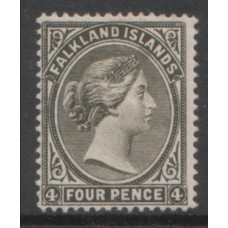 1889 FALKLAND Is QV 4d olive grey-black VF LMM
