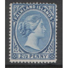 1891 FALKLAND Is.  QV 2-1/2d dull blue VF LMM
