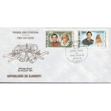 1981 DJIBOUTI Royal Wedding FDC