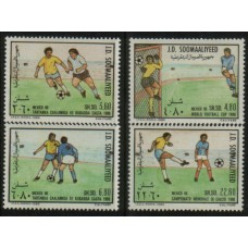 1986 SOMALIA Football in Mexico MNH