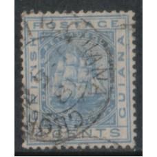 1876 BRITISH GUIANA Schooner 4c FU