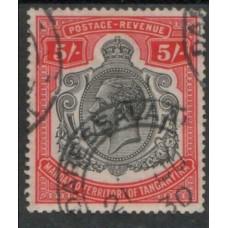 1927 TANGANYIKA KGV 5s VFU
