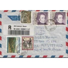 1998 AUSTRIA Comm. Registered Commercial cover