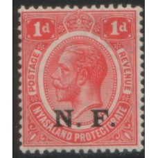 1916 TANGANYIKA NRF KGV 1d VF MNH
