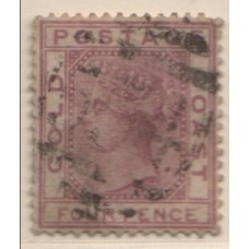 1876 GOLD COAST QV 4d magenta FU.