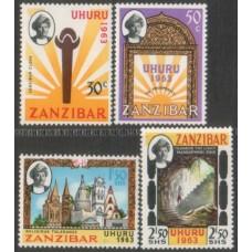 1963 ZANZIBAR Independence set (4) MNH