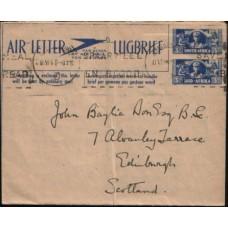1944 SA AERO Large 3D3D WAC Air Letter FU