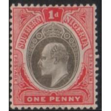 1904 SOUTHERN NIGERIA KE 1d blk & carmine MNH