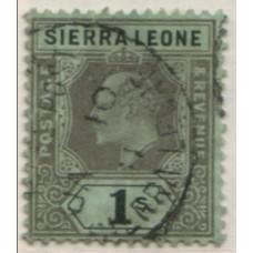 1907 SIERRA LEONE KE 1s black on green VFU