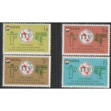 1966 GHANA ITU set MNH