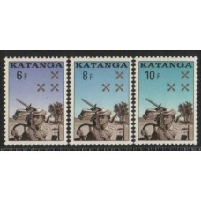 1962 KATANGA Police set of 3 MNH
