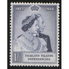 1948 FALKLAND Is. DEPENDENCY 1s Royal Silver Wedding MNH