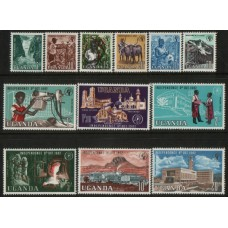 1962 UGANDA Definitive set (12) MNH