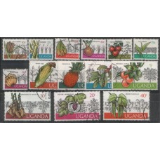 1975 UGANDA Produce Definitive set  VFU