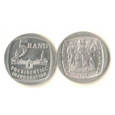 1994 INAUGURATION of Pres. MANDELA R5 fine circ.