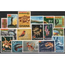 1959 GHANA Definitive set of 16 LMM