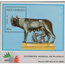 1985 MOZAMBIQUE ITALIA 85 miniature Sht MNH