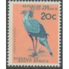 1961 SOUTH AFRICA 20c Bird No wmk MNH