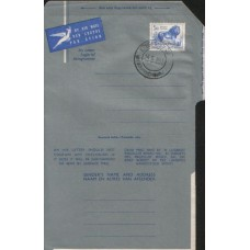1961 SOUTH AFRICA 5c Lion Aerogramme By Air Mail USED