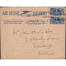 1944 SOUTH AFRICA AERO Large 3D Air Letter Used