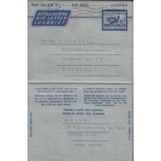 1961 SOUTH AFRICA 5c Lion Aerogramme By Air Mail FD USED