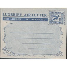 1949 SOUTH AFRICA Aerogramme 6d LUGBRIEF Mint