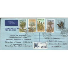 1980 TRANSKEI 10c Aerogramme with Cycads First Day