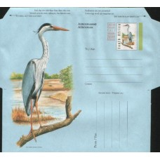 2002 SOUTH AFRICA Heron Foreign Postage Paid Aerogram MINT