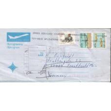 1997 SOUTH AFRICA RTS Plane Aerogramme Germany FU