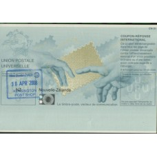 2008 NEW ZEALAND International Reply Coupon