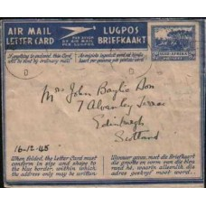 1945 SA AERO 3d Military Air Mail Letter Card U