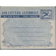 1949 SOUTH AFRICA AERO 6d Air Letter Mint