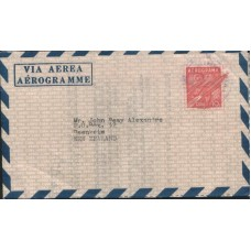1971 CUBA Aerogramme to New Zealand