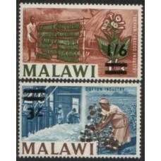 1965 MALAWI Two overprint values MNH.