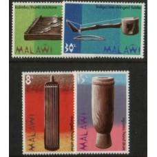 1973 MALAWI Musical Instruments set MNH.