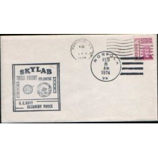 1974 US SKYLAB 3rd Flight Cover